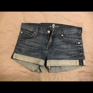 7 For All Mankind Jean Shorts size 25
